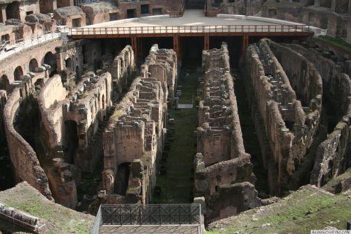 ruins underground colosseum